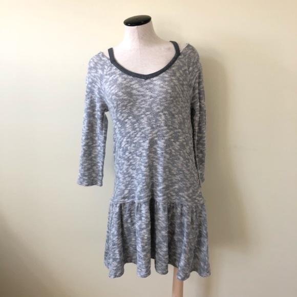 Anthropologie Dresses & Skirts - Saturday Sunday gray marled sweater dress